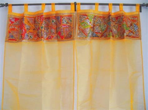 Handmade Curtain - sari fabric curtains handmade curtain penal