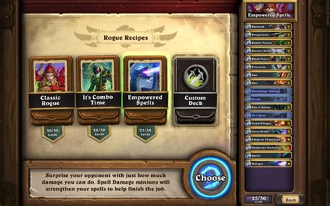 hearthstone deck creation blizzard to introduce deck recipes to hearthstone