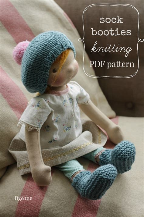 knitting pattern doll socks a new pattern for cozy feet sock booties fig me