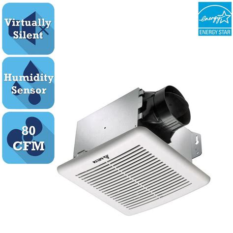 bathroom exhaust fan with humidity sensor delta breez greenbuilder g2 series 80 cfm ceiling bathroom