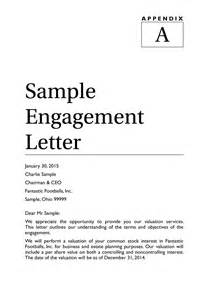 Letter Of Engagement Template For Bookkeeper by Sle Engagement Letter Springer