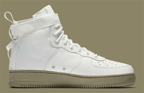 Nike Sf Af 1 Mid White nike sf air 1 mid ivory neutral olive release date 917753 101 sole collector