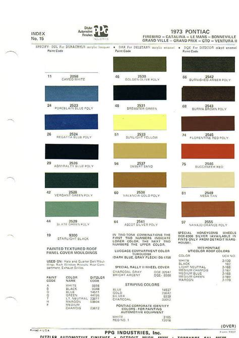 trans colors trans am interior color codes psoriasisguru