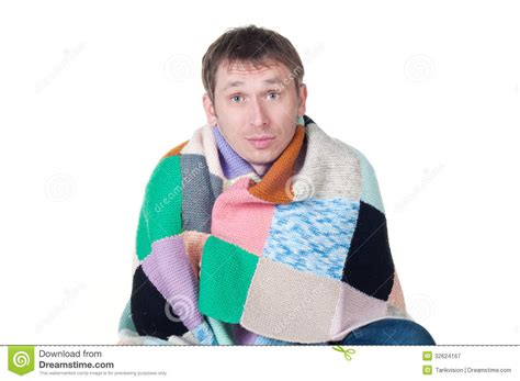 And Cold Blanket by Wrapped In A Warm Blanket Shivering From The C Stock