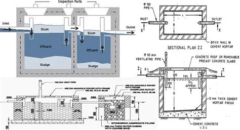 layout plan of septic tank designing a septic tank septic tank construction methods
