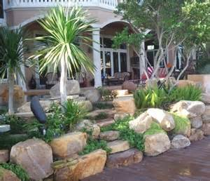 Tropical Rock Garden Tropical Outdoor Rock Garden Steps In Florida Tropical Landscape Other By Waterfalls