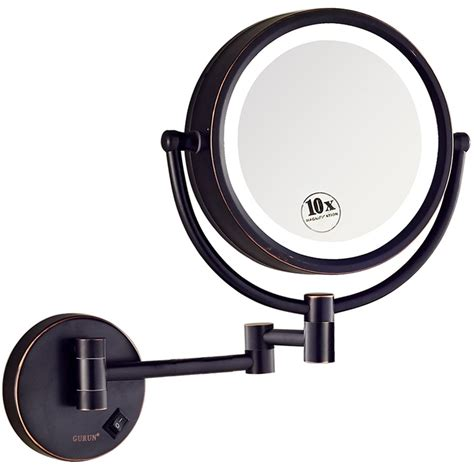 gurun 8 5 inch magnifying mirror with led