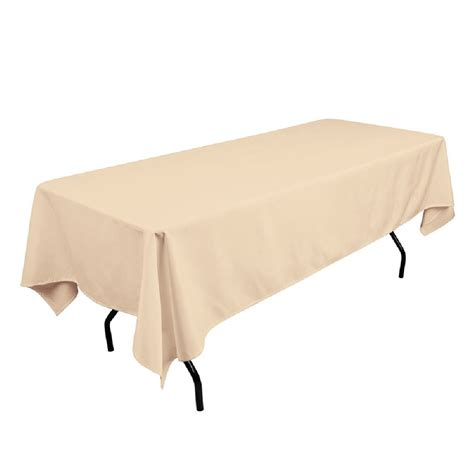 108 tablecloth on 60 table polyester tablecloth 60 quot x 108 quot beige prestige linens