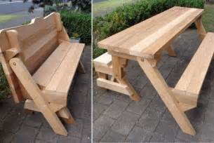 How To Make A Folding Picnic Table Bench by One Piece Folding Bench And Picnic Table Plans Downloadable