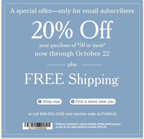 Ll Bean Promotional Gift Card Code - just for email subscribers 20 off free shipping