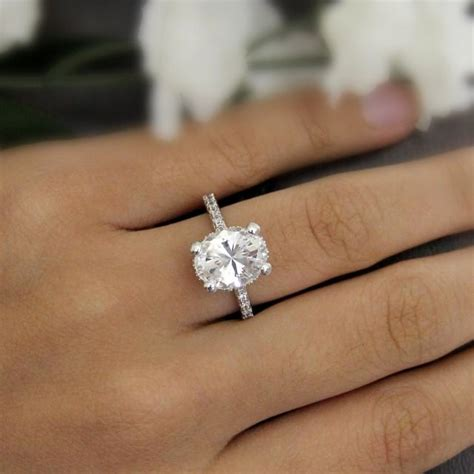 Bridal Rings by 4 20 Ct Engagement Ring Oval Cut Simulant