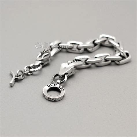 mens 925 sterling silver bracelet callvogue