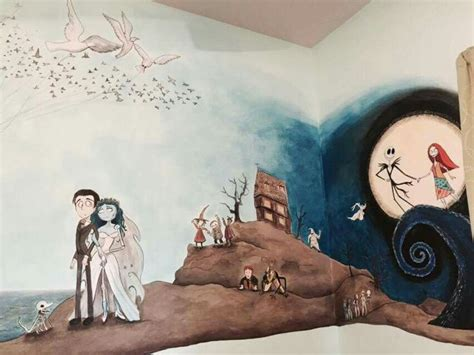 tim burton themed bedroom i would love to have this as a kids room kids