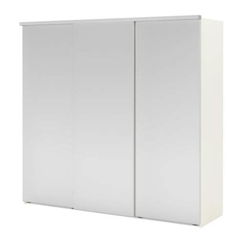 Elg 197 Wardrobe With 3 Sliding Doors White Fenstad Mirror Mirror Sliding Closet Doors Ikea