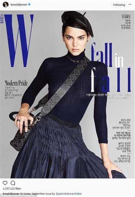 w models korea kendall jenner rocks parisian chic on korean w magazine