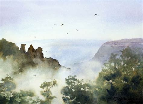 Painting Perspective Depth Distance In Watercolour painting mist painting with watercolors