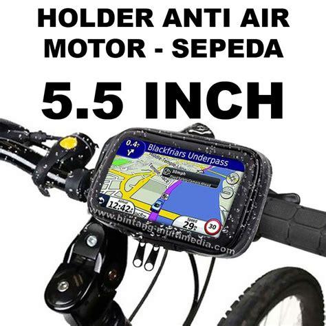 Holder Hp Fdt Gps Stang Sepeda Motor Waterproof Anti Air 5 5 jual bracket holder waterproof 5 5 inch stang motor sepeda bike hp gps 5 5 bintang multimedia