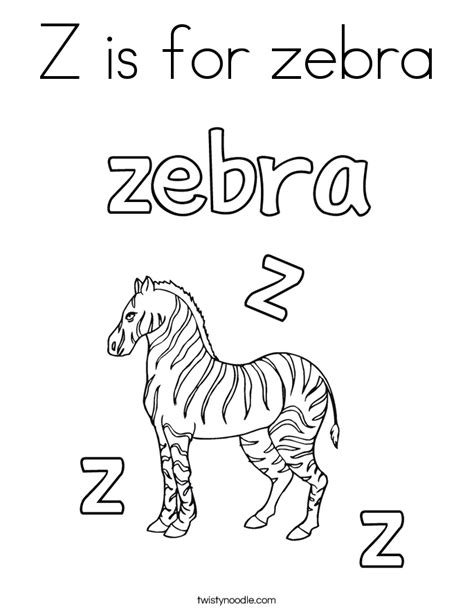 zebra z coloring page z is for zebra coloring page twisty noodle