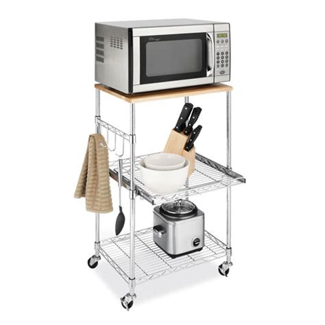 kitchen microwave cart in kitchen island carts