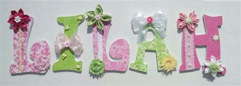 Decorative Letters For Nursery Nursery Letters Decorative Letters