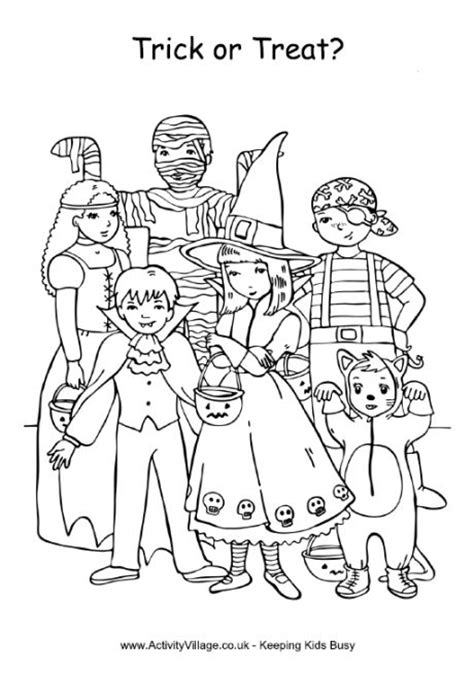 25 Best Ideas About Halloween Colouring Pages On Trick Or Treat Coloring Page