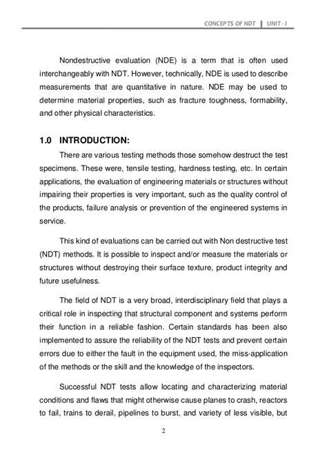 NDE Non Destructive Evaluation