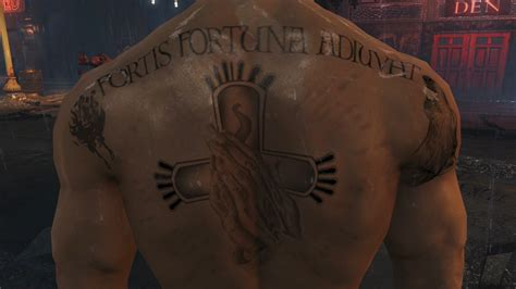 tattoo john wick back the john wick mod at fallout 4 nexus mods and community
