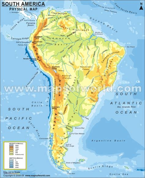 south america map desert generalities of the americas major landforms of south america
