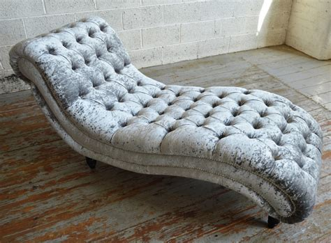 chaise lounge chesterfield style bude velvet chesterfield chaise lounge abode sofas
