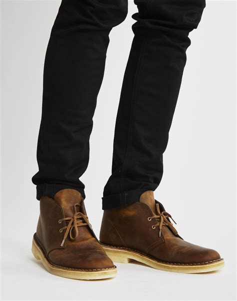 Shoes Clarks Boots Brown clarks leather desert boot in brown for lyst