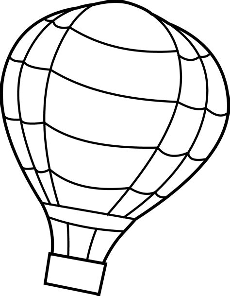 free printable coloring pages air balloon air balloon coloring page free clip