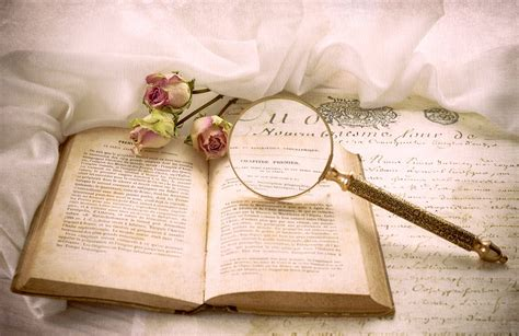 libro love x style x vintage book roses magnifier a letter hd wallpaper