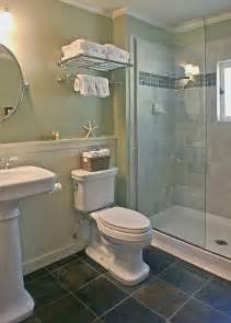 Walk In Shower For Small Bathroom The Bath Has Vintage Style Fixtures And A Roomy Walk In Shower The Beadboard Which Would