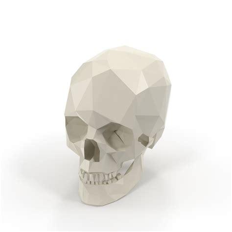poly skull png images psds   pixelsquid