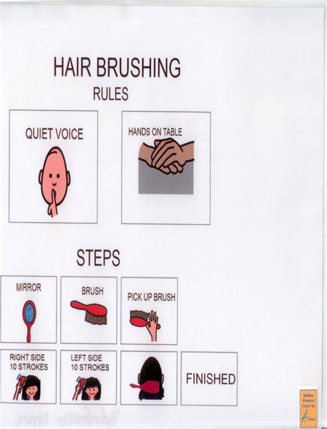 how to brush your hair 9 steps with pictures wikihow visual supports