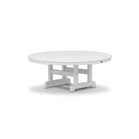outdoor furniture cape cod trex outdoor furniture cape cod classic white 48 in patio conversation table txrct248cw