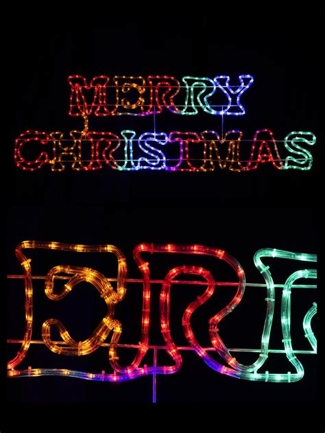 multi colour merry christmas led rope light silhouette  christmas lights buy