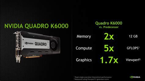 Nvidia Quadro 6000 nvidia announces quadro k6000
