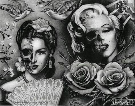 marilyn monroe skull tattoo marilyn day of the dead inspirational