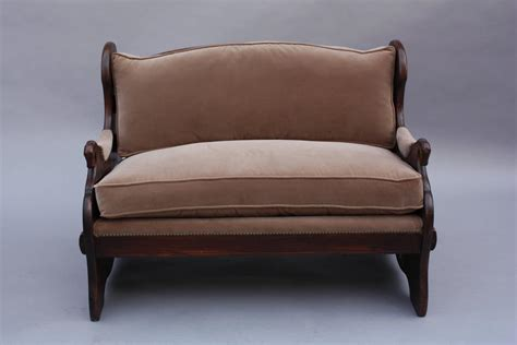 spanish style sofa 1920s small spanish revival sofa love seat with horse