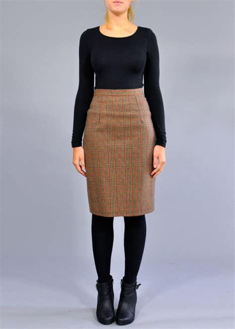 vintage tweed pencil skirt vintage tartan pencil skirt
