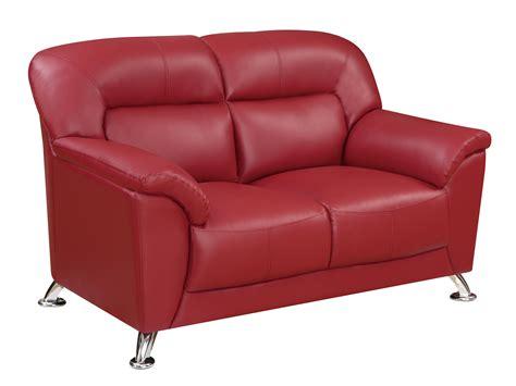 vinyl loveseat u9102 red vinyl loveseat by global furniture