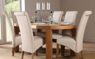 Dining Table And Chairs Pictures Oval Dining Table And Chairs Marceladick