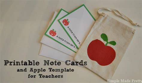 printable apple gift cards the perfect teacher gifts approved by a teacher with
