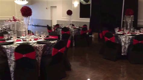Wedding Reception at St Demetrios cathedral Hall Black and