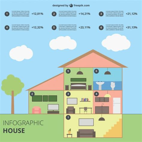 infographic house vector free