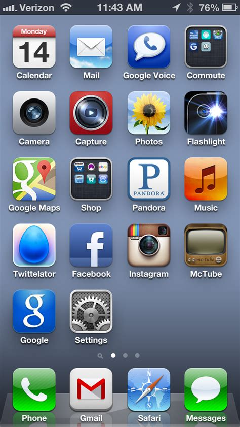 iphone iphone home screen