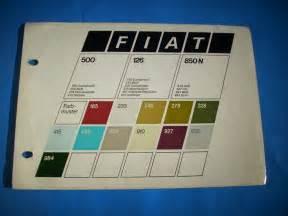 Fiat 500 Colour Chart Fiat 500 126 850 N Farbmuster Karte Farbkarte Lack Farben