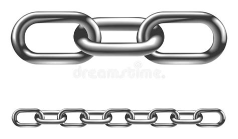 cadenas towing metal chain links illustration stock vector illustration