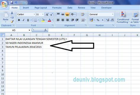 membuat id card di excel cara membuat daftar nilai pada excel 2007 deuniv